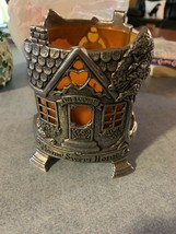 Vintage Pewter Yankee Home Sweet Home Large Jar Candle Holder - Fall 199... - $9.99