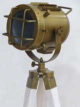 Brass Antique Tripod Floor Lamp Base By NauticalMart - $98.01