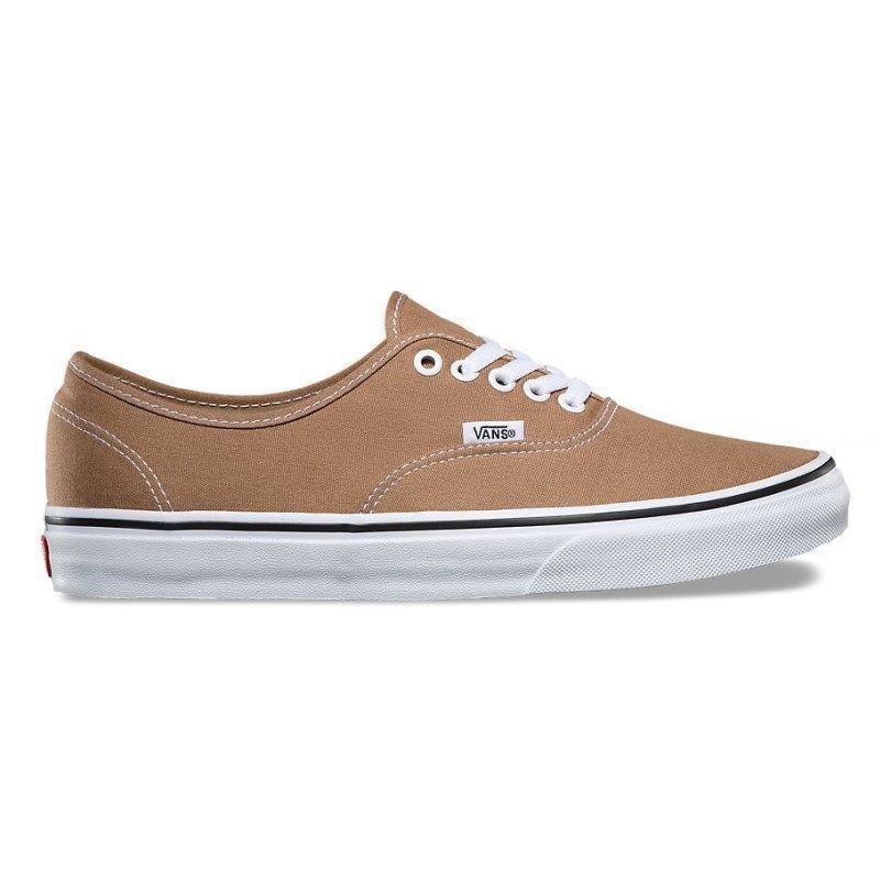 Vans Authentic Tiger's Eye True White Brown Men's Skate Shoes Size 7.5 image 2