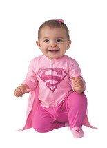 Supergirl Costume Baby Superwoman Halloween Fancy Dress Up Pink 0-6 months - $278,80 MXN