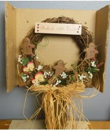 "Vintage Wreath Apple Creek ""Baked with Love"" 12"" Original Box - $28.40"