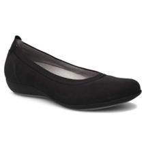 Dansko Women Ballet Flats Kristen Size US 6.5-7 EUR 37 Black Nubuck Leather - $39.94
