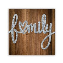 """ReLive Decorative Expressions Family 8"""" x 8"""" Painted Wooden Box Sign wit... - $16.53"""