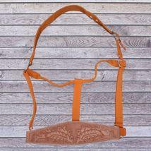 Abetta Bronc Nose Nylon Halter Orange Horse Size image 1