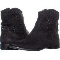 Franco Sarto Mimose Perforated Ankle Boots 046, Black, 7.5 US - $31.67