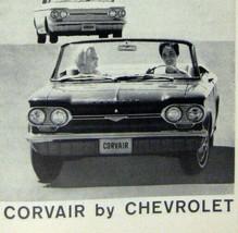 1964 Chevrolet Print Ad Vintage Automobile Car Corvair Monza Sports GM - $19.79