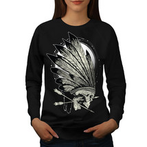 Native Indian Curse Jumper Skull Head Women Sweatshirt - $18.99