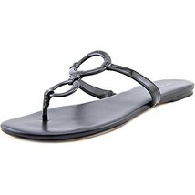 Michael Michael Kors Claudia Flat Sandal Women US 6 Black Thong Sandal