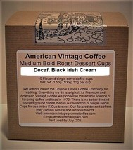 Decaf. Black Irish Cream flavored Dessert Coffee Medium Bold Roasted 10 ... - $10.41