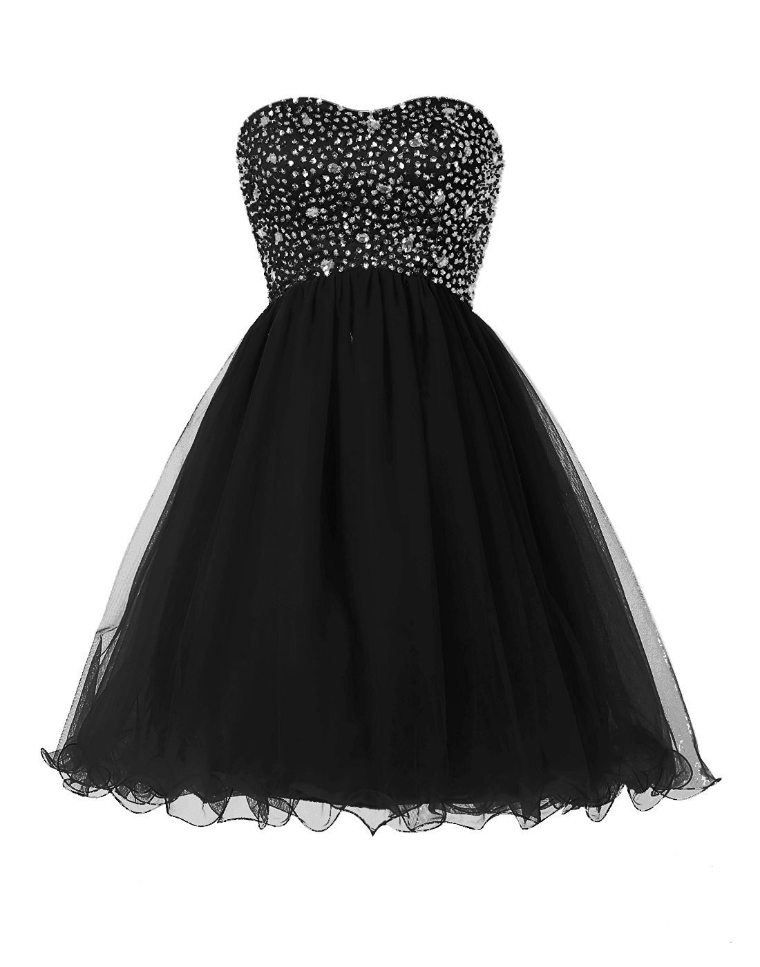 Women's Short Beaded Homecoming Dress Tulle Sweetheart Prom Dress Formal Gowns