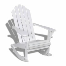 Indoor Outdoor Garden Patio Adirondack Rocking Chair Hardwood Firwood Se... - $115.99