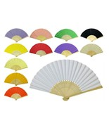 """PAPER HAND FAN 8.25"""" Color Choice GOOD QUALITY Bamboo Folding Pocket Pur... - $5.95"""