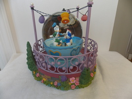 Disney Donald's Tea Party Lighted & Musical Waterglobe - $150.00