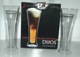 Luigi Bormioli DW0302 Duos Pilsner Glasses Set of 2 Thermo Wall Color Clear image 1