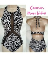 Carmen Marc Valvo One piece Leopard Mesh Swimwear,Size Medium - $38.00