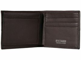 Steve Madden Men's Premium Leather Credit Card Id Wallet Brown N80027/01 image 3