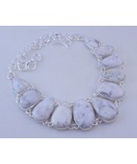 Dendrite Opal Silver Overlay Handmade Jewelry Necklace 95 Gr. F-486-26 - $47.85