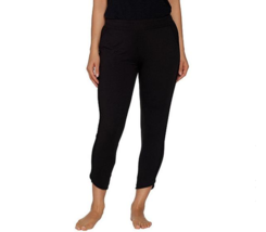 Cuddl Duds Large Comfortwear Tulip Hem Slim Pants Black L - $12.19