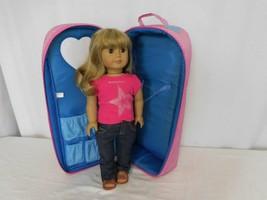 American Girl Doll Truly Me Just Like You Blonde Hair Bangs + AG Top + Pants - $67.34