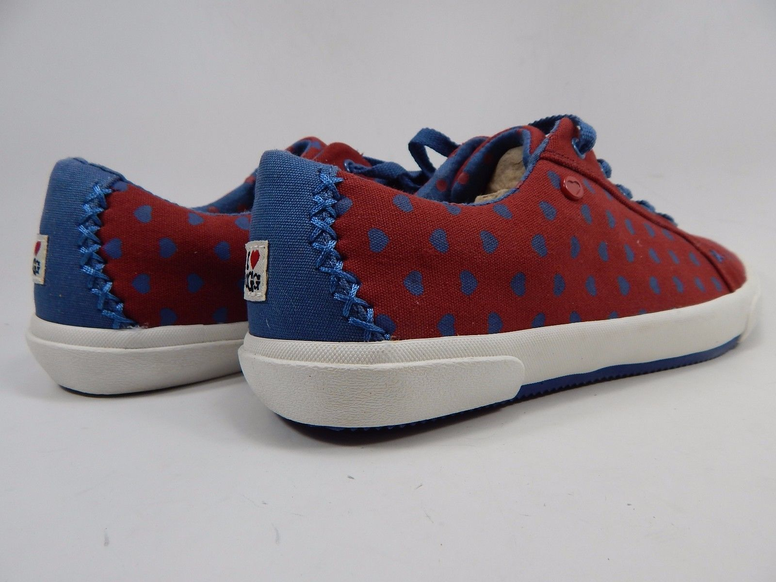 UGG I Heart Lace Up Sneakers Shoes Women's Size 7 M 1008153 Luxe Red / Blue Moon