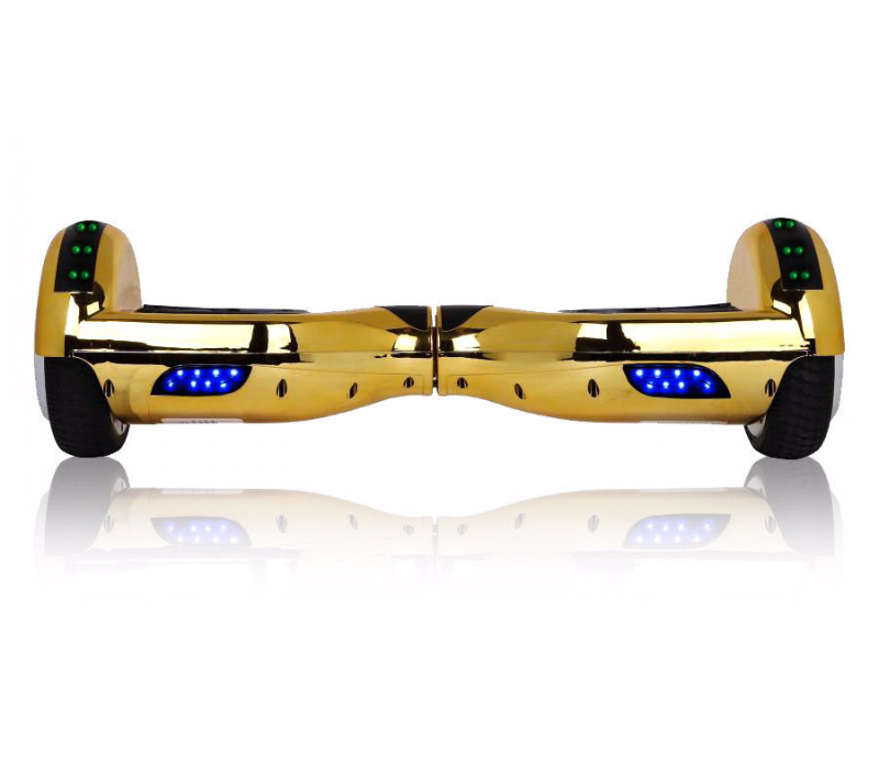 Chrome Gold Chrome Bluetooth Hoverboard LED Two Wheel Balance Scooter UL2272