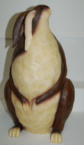 Brand Unknown Large Brown Sitting Bunny Figurine Approximately 18 Inches Tall