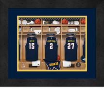 Personalized Denver Nuggets 12 x 16 Locker Room Framed Print - $63.95