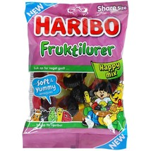 Haribo Fruktilurer Happy Mix -375g-Made in Denmark FREE SHIPPING - $17.81