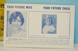Vintage 1935 Your Future Wife Future Child Exhibit Card Ex Condition - $3.95