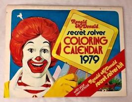 Vintage Ronald McDonald 1979 secret solver coloring calendar book collectible - $11.21
