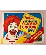 Vintage Ronald McDonald 1979 secret solver coloring calendar book collec... - $11.21