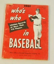 1961 Who's Who in Baseball published by Baseball Magazine Maris Cover - $14.85