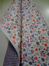 New Handmade wholecloth quilt Gray White Dots+nature 100%cottonQuilt sho... - $49.99