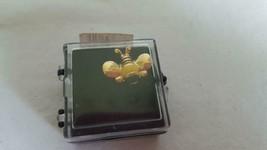 "SMALL NEW .75""VINTAGE BUMBLE HONEY BEE LAPEL PIN PINBACK,ENAMELED BLACK ... - $6.05"