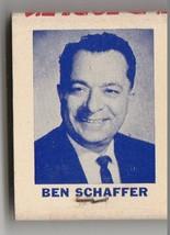 Vtg Strike on Matchbook Vote for Ben Schaffer for City Councilman April ... - $9.89