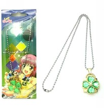 Shugo Chara Concentric Lock Modelling Lovers Pendant Necklace  green - $7.06