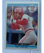 Donruss 1992 Chris Sabo Third Base Cincinnati Reds #424 Baseball Card - $3.99