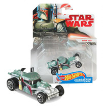 Hot Wheels Star Wars Boba Fett Character Cars Mint on Card - $7.88