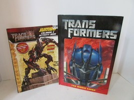 TRANSFORMERS THE MOVIE GUIDE HC BOOK & JUMBO COLORING ACTIVITY BOOK 2 FOR 1 - $9.85