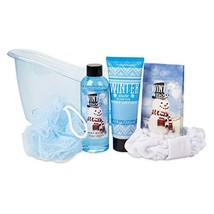 Simple Pleasures Tub Of Wintry Spa Treats Gift Set With Snow Flurries Sc... - $19.68