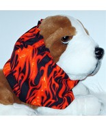 Handmade Orange Red Yellow Hot Rod Flames Cotton Dog Snood Size Large - $14.00