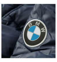 BMW PUMA Men's Premium Insulated Packable Hooded Logo Navy Puffer Jacket - M image 4