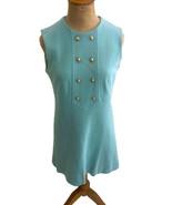 Vintage 1960s Lanz Original Women's Sheath Dress Groovy Mod Sleeveless S... - $28.01