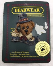 Vintage Boyds Bears And Friends Bearwear Collectible Resin Brooch Pin Gift - $5.90