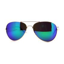 Polarized Lens Aviator Sunglasses Metal Spring Hinge Frame Mirror Lens - $12.95