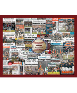 Boston Red Sox 2018 World Series Newspaper Collage Print. Includes 30 Headlines - $19.99 - $24.99