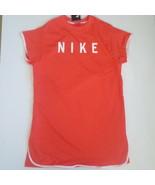 Nike Women Sportswear Mesh Dress - BQ6738 - Orange White 816 - Size M - NWT - $34.99