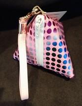 Pyramid Bag/Wristlet/Gift Bag - Pink Hologram/Holographic shiny polka dots