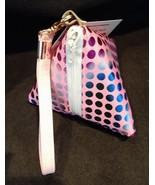 Pyramid Bag/Wristlet/Gift Bag - Pink Hologram/Holographic shiny polka dots - $19.95