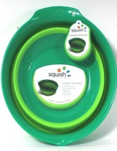 1 Count Squish Cook Store Green Collapsible Mixing Bowl Low Profile Stor... - $27.99